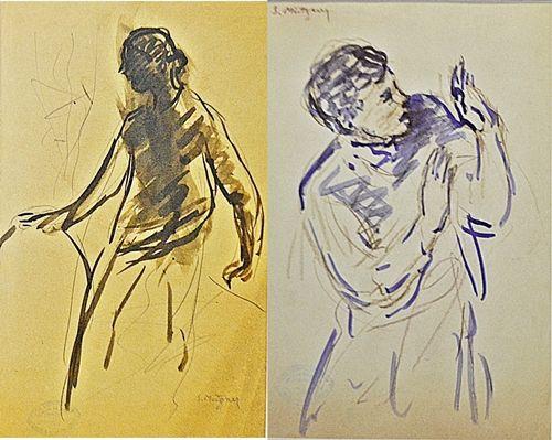 MÜTZNER SAMUEL ( 1884-1959 ) Douã schițe / Two Sketches