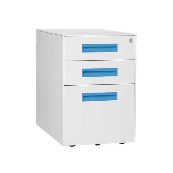 Stockpile Square File Cabinet Bright Blue Modern And Storage With Low