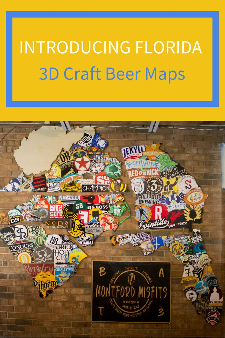The Florida 3D craft beer map joins