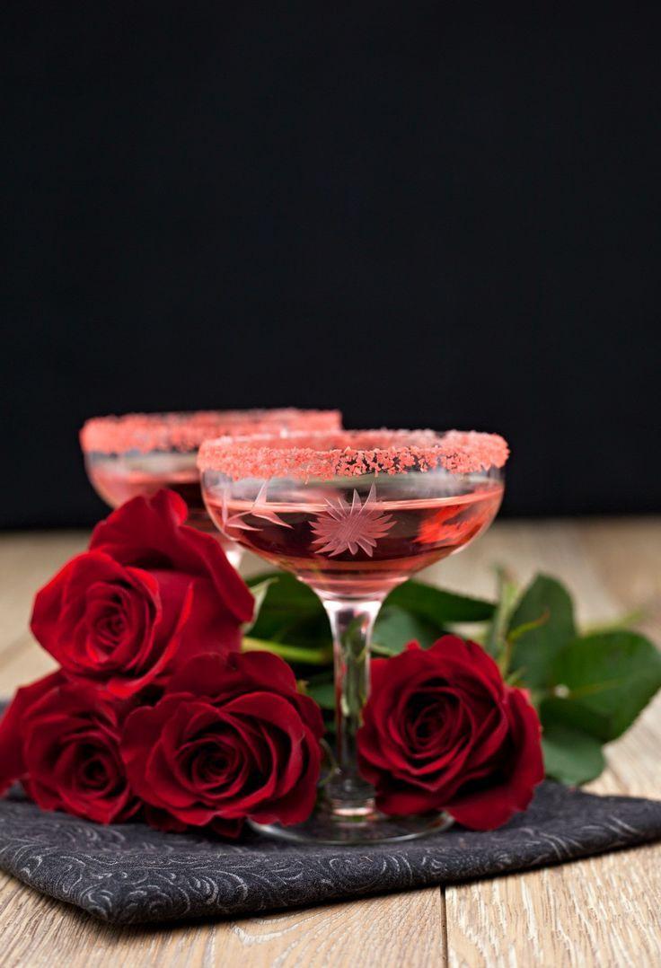 Red margarita salt - Colored cocktail rimming salt