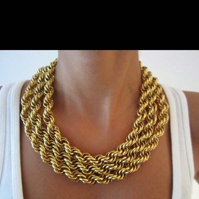 NecklaceGold Chains, Low Carb Recipe, Statement Necklaces, Chains Necklaces, Gold Necklaces, Accessories, Weights Loss, Gold Jewelry, Chunky Necklaces