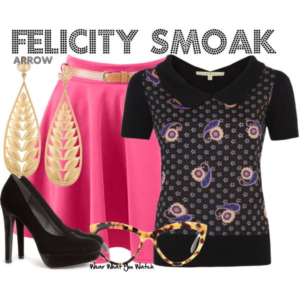 Inspired by Emily Bett Rickards as Felicity Smoak on Arrow.