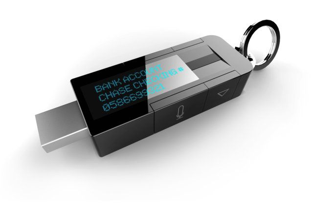 a Flash drive for the serious users. Keep your most private info out of the wrong hands. #technology #cool #gagdets