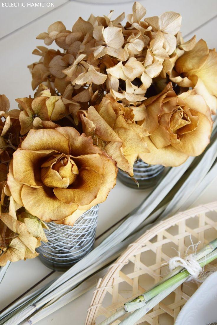 Wie ihr Rosen seidig weich trocknet