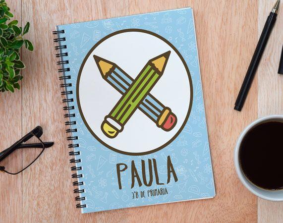 Cuaderno personalizado Lápices cruzados