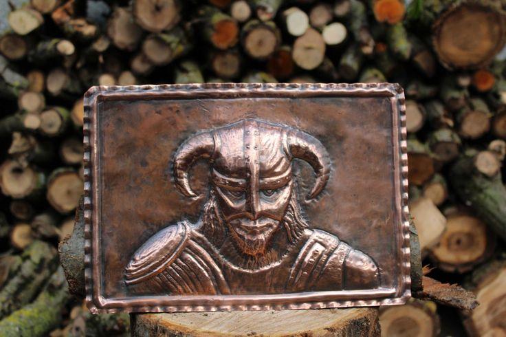 Quadro vichingo barbaro guerriero viking warrior fantasy in rame lavorato a mano di LaCasadelRame su Etsy