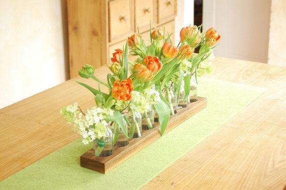 wood vase romatic by Myflowermeadow on Etsy, €54.00