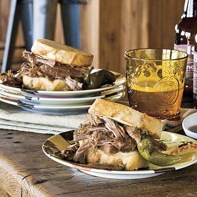 The Pioneer Woman's beef brisket cowboy sandwich. Its my favorite ...