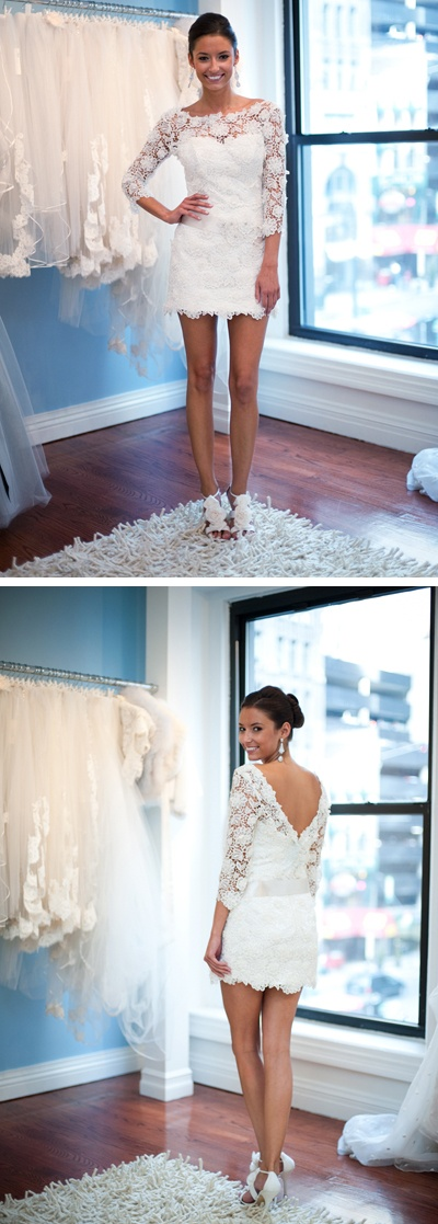 Make it a tad longer and it would be adorable for a reception dress or even for bridesmaids if you wanted them in white