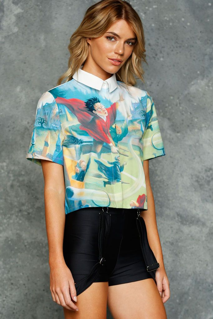 Sorcerer's Stone Boss Shirt - LIMITED ($90AUD) by BlackMilk Clothing