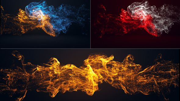 Colorful Particle Logo Photoshop Digital Background Free Video