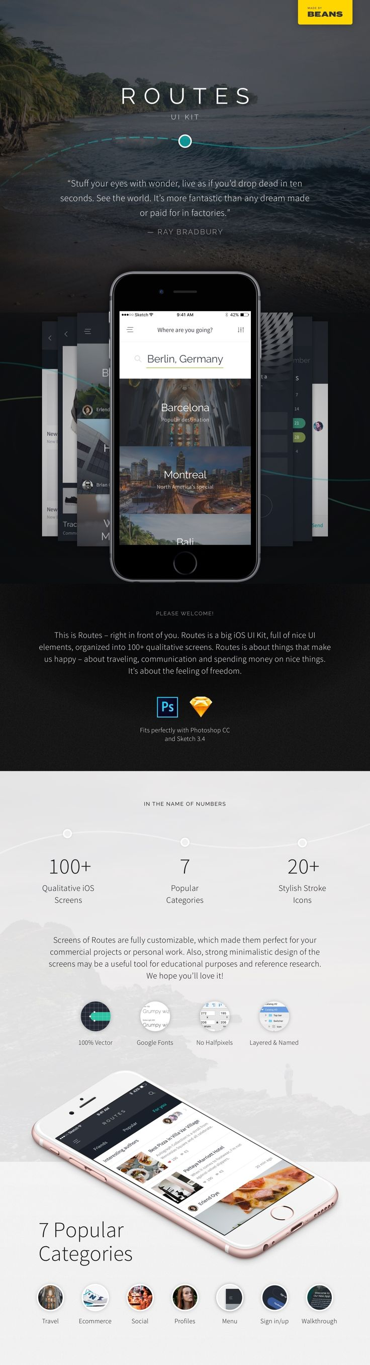 Minimalistic iOS UI Kit