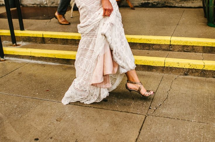 Jimmy Choo Wedding Shoes :. Archeo Distillery District Toronto Wedding - Shauna Heron Photography