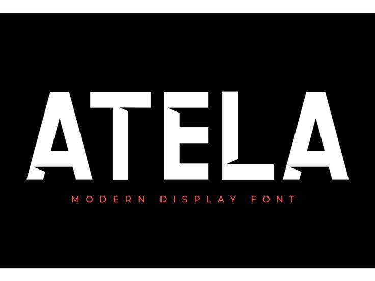 ATELA Sans Serif by Eldertype Studio
