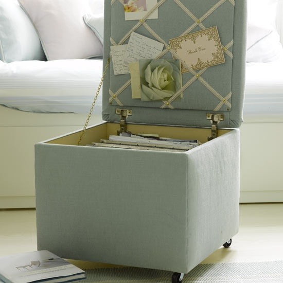 File cabinet in an ottoman furniture with secrets for Hanging file storage ottoman