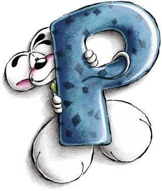 Alfabeto Diddl lettera P