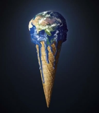 I really liked this picture just because it portrays the earth like ice cream, and when you let ice cream sit it melts. The same is with the earth, when it heats up it doesn't melt, but things like the ice caps do. I don't know, I just really liked the imagery of this.