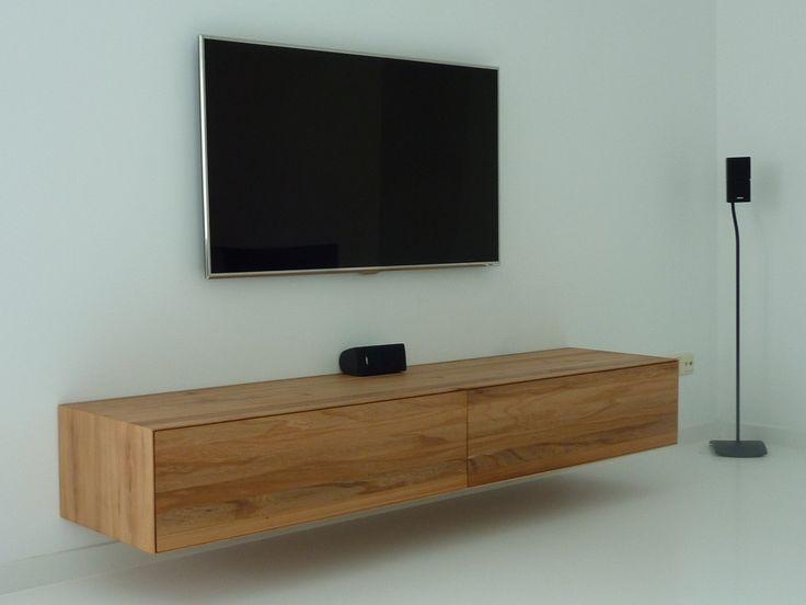 Audio meubel onder tv bert harmens modern ambachtelijk meubelmaker uit meppel woonkamer - Kamer buffet heeft houten eet ...
