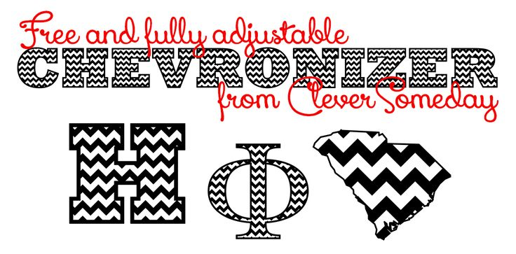 """Free and fully adjustable """"Chevronizer"""" file for Silhouette Studio from CleverSomeday"""