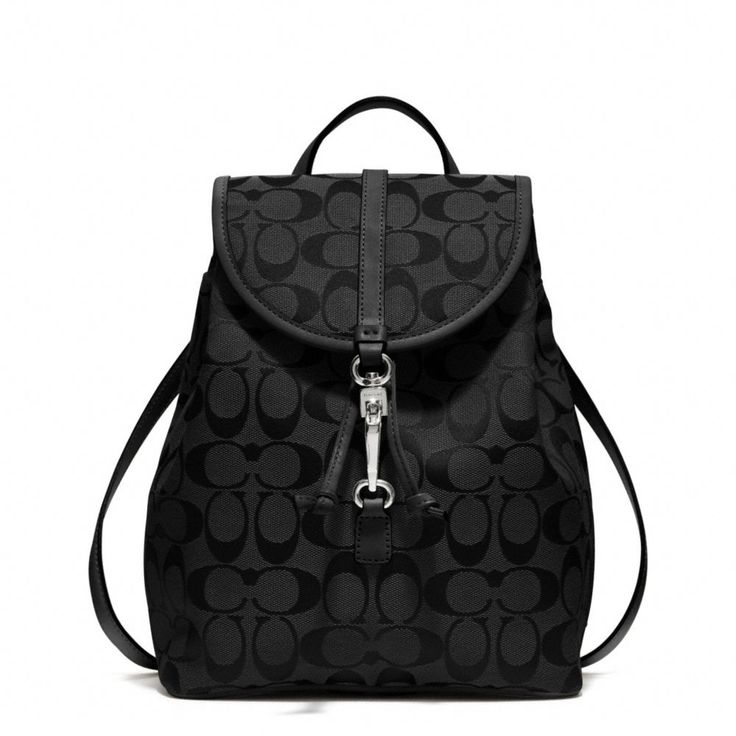coach leather backpack outlet 7lyl  The Coach Classic Small Backpack In Signature Fabric from Coach