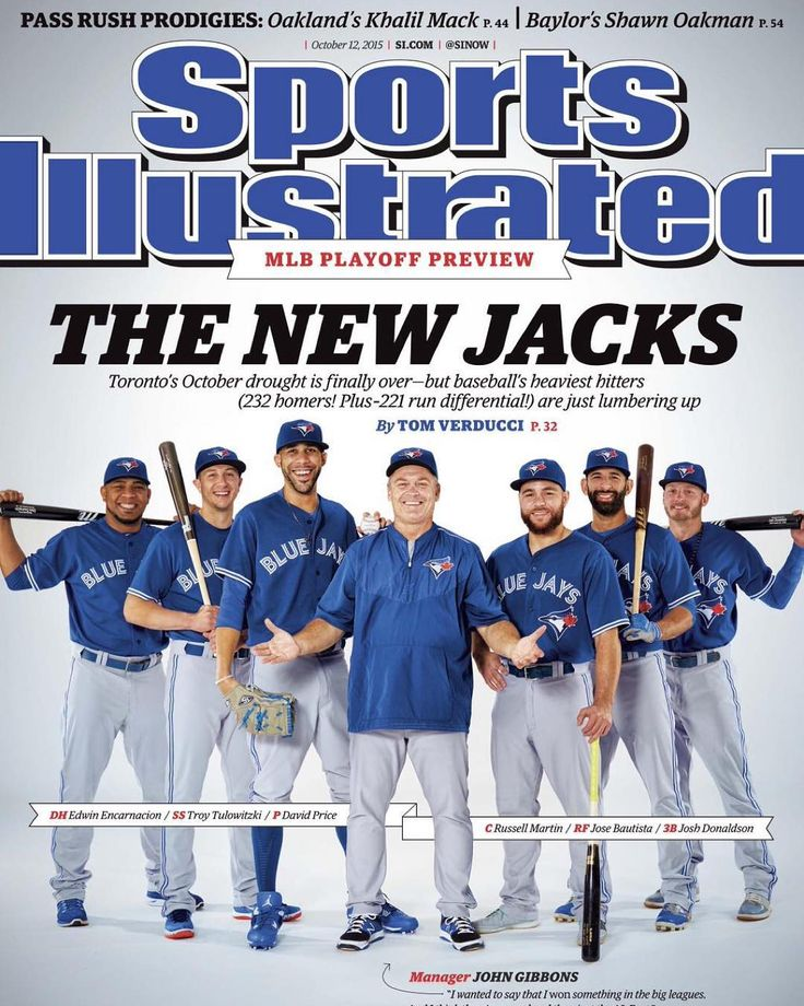 The Toronto Blue Jays on the cover of Sports Illustrated 2015