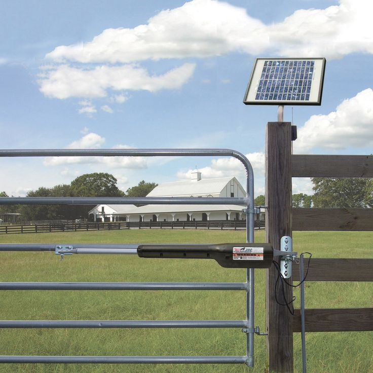 Mighty Mule FM350 DIY Automatic Gate Opener and Solar Panel