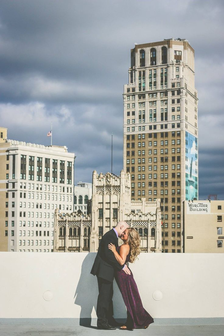 Detroit Engagement Shoot.  © Rachel Dwyer Photography  # #detroit #engagement #photos #photography #detroitphotographer #city #skyline #ideas #unique #cute #poses #michigan