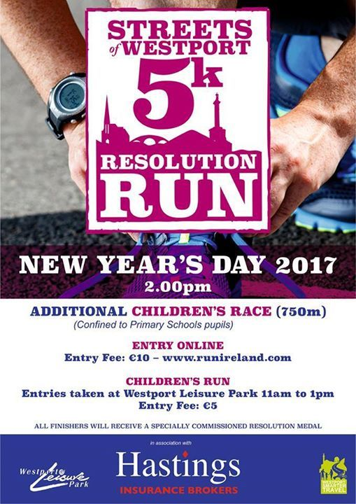 Westports Resolution Run  New Years Day. Westport Leisure Park is once again hosting The Streets of Westport 5k Run catering for a broad range of ages and abilities at 2.00pm on New Years Day with a childrens race at 1.45pm.  On this the third running of the event Westport Leisure Park is delighted to again welcome the involvement and sponsorship of Hastings Insurance Brokers. Hastings is one of the countrys leading insurance brokers established in Westport in the 1960s and now having a…