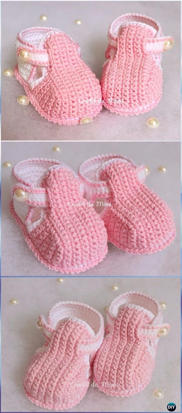 Crochet Baby Booties Slippers Free Patterns Instructions Crochet