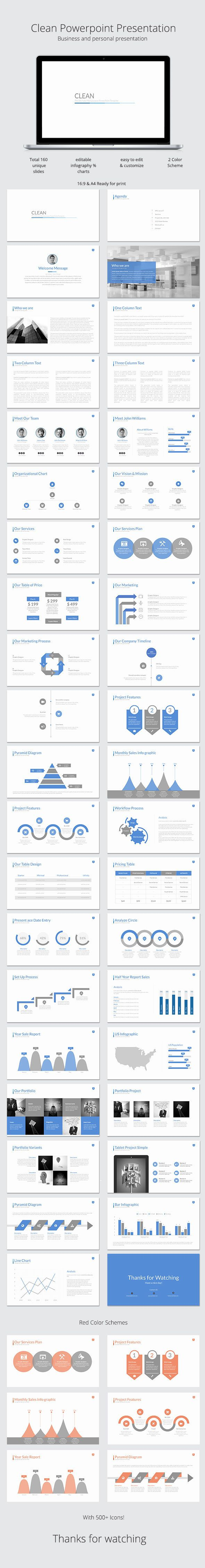 Clean Powerpoint Presentation Template #design #slides Download…