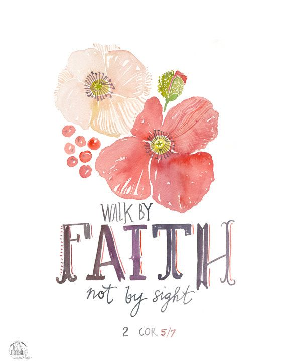 Faith Poppy 2 Corinthians 5:7 PRINT