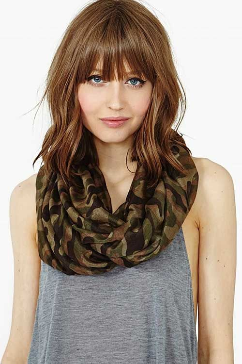 medium length asymmetrical light brown hair with bangs - Google Search