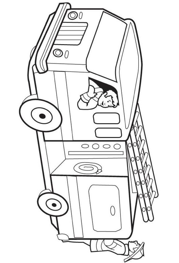 Print coloring page and book, Fire Truck Coloring Page for kids of all ages. Updated on Monday, September 23rd, 2013.