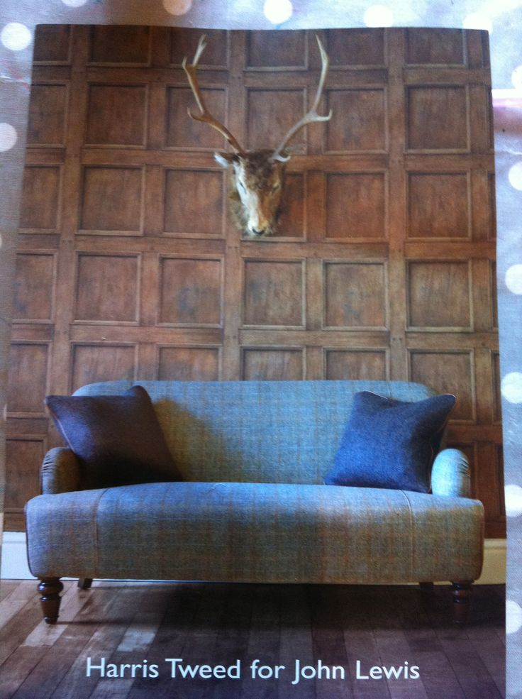 Harris tweed sofa from John Lewis . I rarely want this !!!