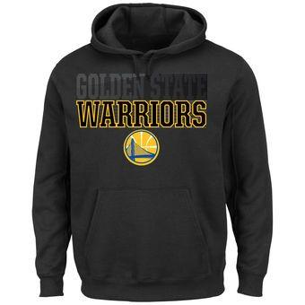Majestic Golden State Warriors Black Color Pop Pullover Hoodie
