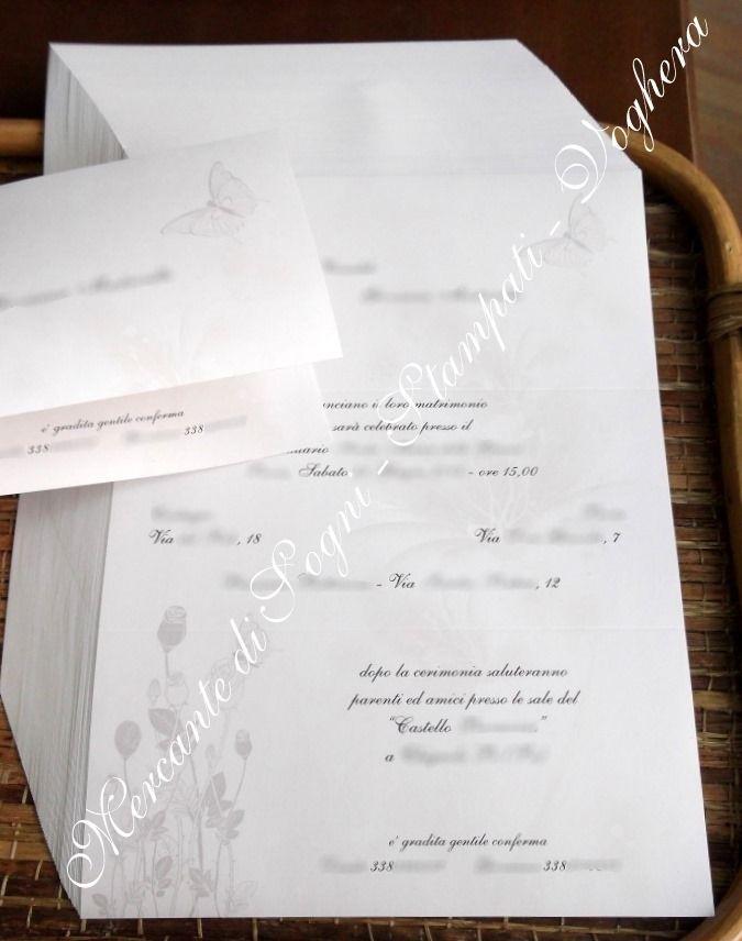 """""""COLLEZIONI DEBORA CARLUCCI 2014"""" come regalo di nozze riceveranno in dono il coordinato ANNUNCI - BUSTE - INVITI BIGLIETTINI BOMBONIERA che verrà poi personalizzato con lo stile che più si addice ai futuri sposi"""