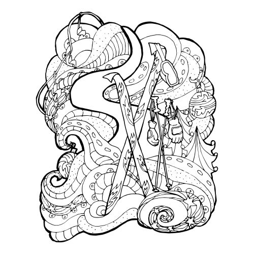 Christmas Coloring Pages Advanced : Best advanced christmas coloring images on pinterest