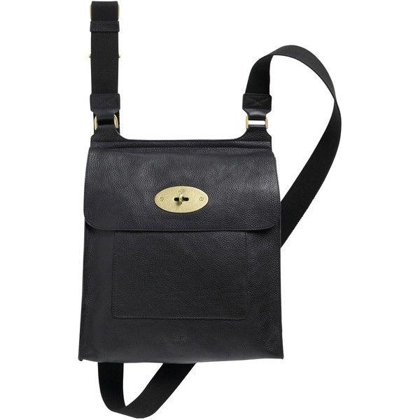 Mulberry Antony Leather Messenger Across Body Handbag , Black