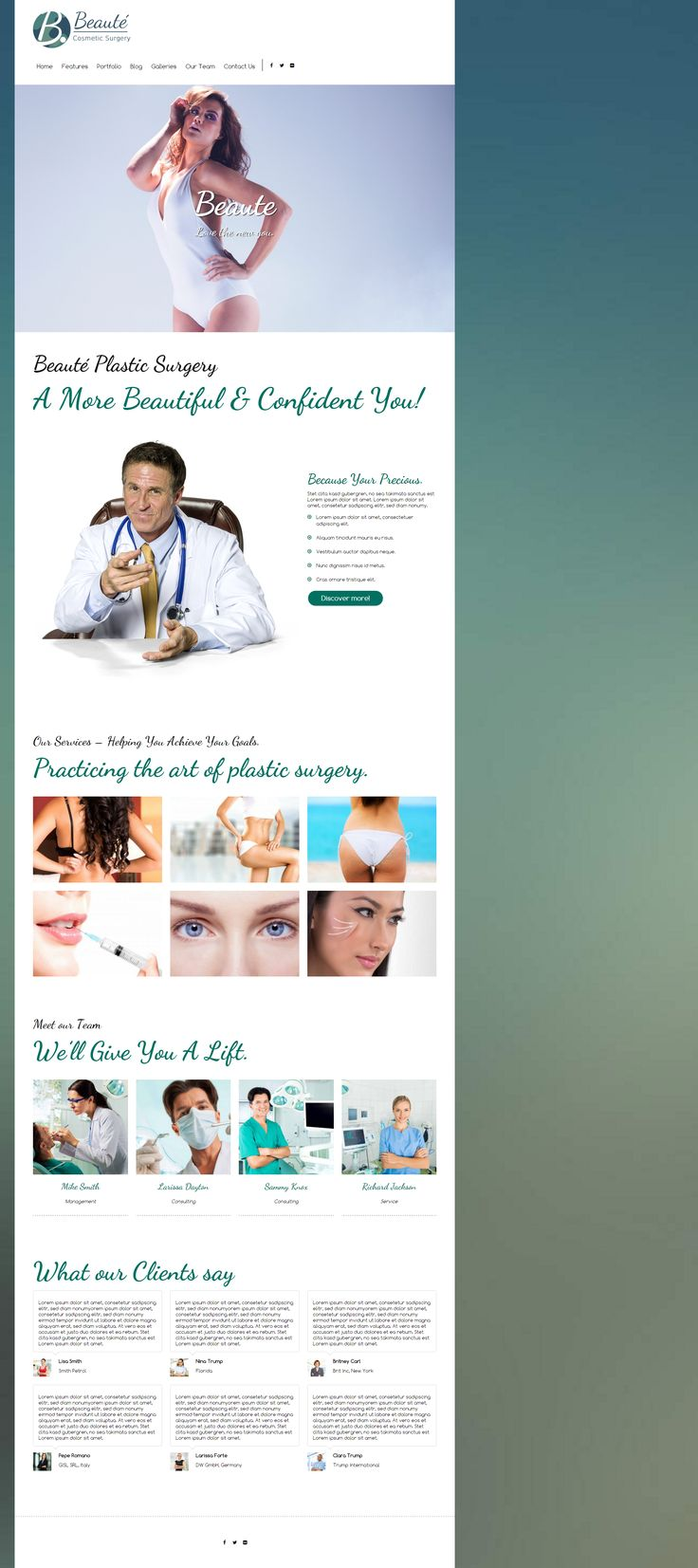 Beauté - is a modern, responsive plastic surgeon WordPress Theme. It's fully customizable and 100% responsive, SEO ready & easy to use. More Information here: http://7theme.net/downloads/beaute-plastic-surgeon-wordpress-theme/ #WordPress #Webdesign #Theme #Plastic #surgeon #esthetic #aesthetic #medical #doctor #cosmetic #surgery