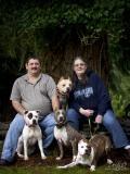 Family shot in the backyard