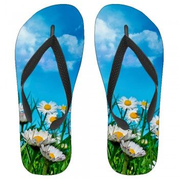 Summer Sunflowers Kids Flip-Flops: Kids Flipflops