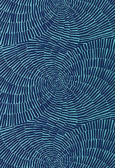 174240 Sonriza Print Marine/Pool by F Schumacher Fabric