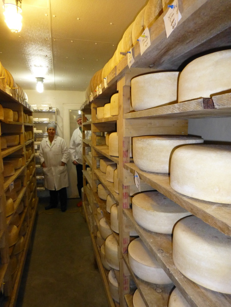 Picking up our cheese from Robinson Family Farm in Hardwick, Ma