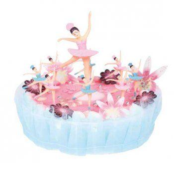 Kit de décorations ballerines pour gâteau et cupcakes - Annikids