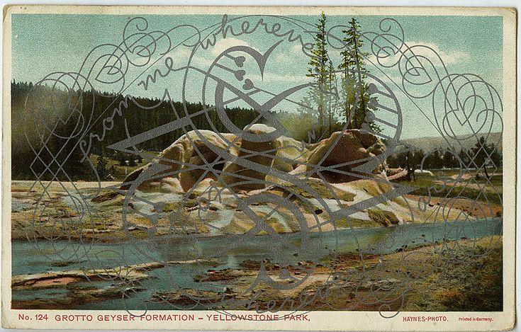Marian Bantjes, Postcards Valentines, vector art on reclaimed postcards, 2012 | #graphic #design #typography #wunderkammer