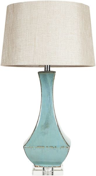 Illuminate your coastal home with this contemporary style Turquoise Table Lamp