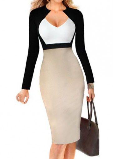 High Waist Knee Length Bodycon Dress on sale only US$23.73 now, buy cheap High Waist Knee Length Bodycon Dress at modlily.com