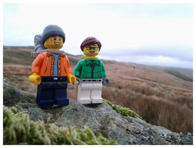 Dampness, Perpetual Dampness: So Lego Dan and Dot haven't made an appearance in a while. This is partly because Dan's been really busy and partly because it's now autumn in Wales and autumn in Wales means rain. Even when it's not raining its constantly damp, a dampness that turns normally abrasive rocks into the slipperiest surfaces known to man. This afternoon they managed a quick walk in the local hills and inevitably, just moments after this photo was taken in fact, they got a good…
