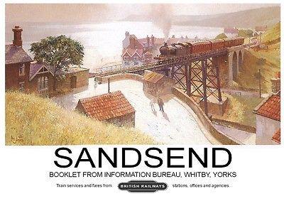 Sandsend, North #Yorkshire #Railway Poster, #England.