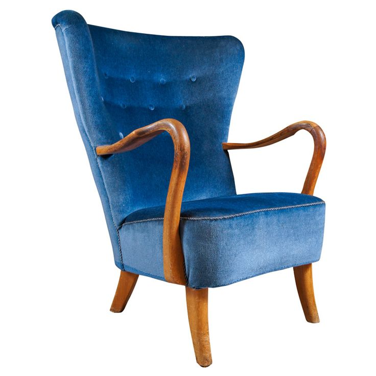 1000+ ideas about Blue Armchair on Pinterest  Armchairs, Leather ...